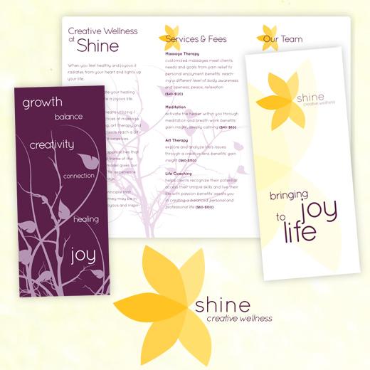 Shine Logo and Brochure