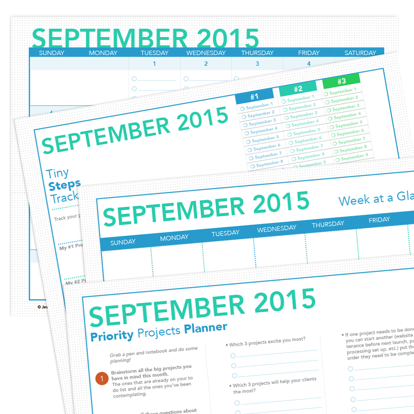 printable project planner and calendar september 2015 jewels branch