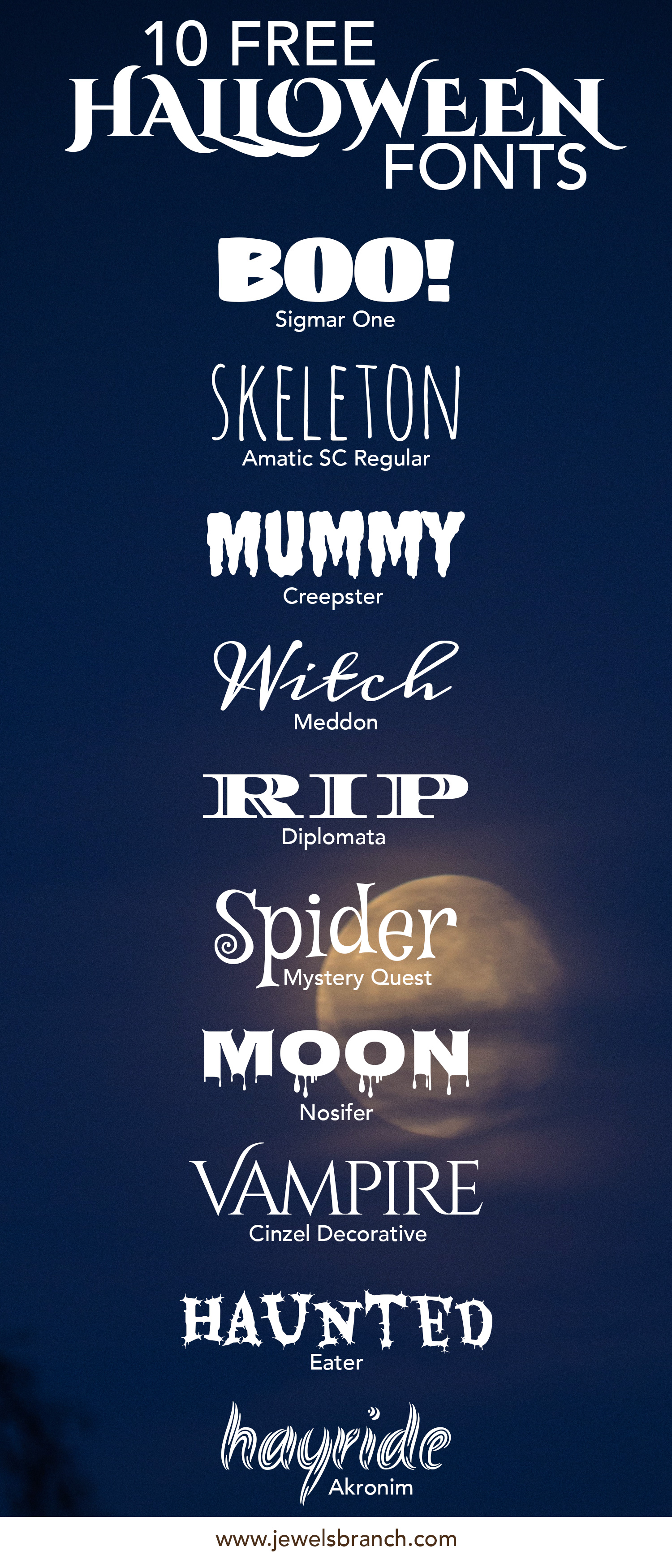 HalloweenFonts