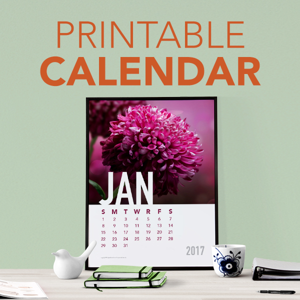 Printable Yearly Calendar Project