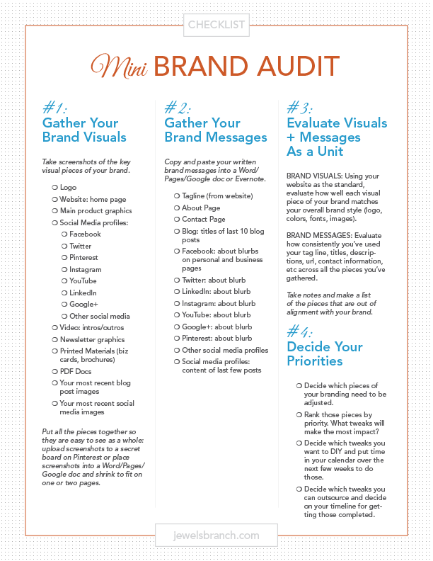 Mini Brand Audit Checklist
