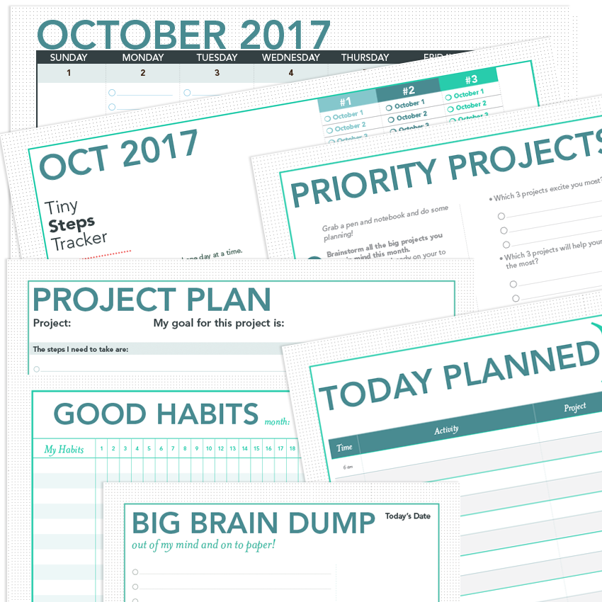 project planner template printable